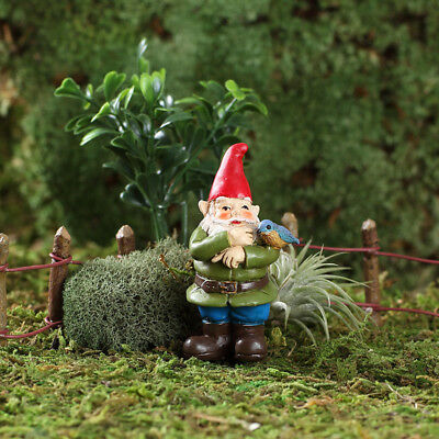 "2.75"" My Fairy Gardens Mini Figure Pick - Sherman the Bluebird Gnome Figurine"