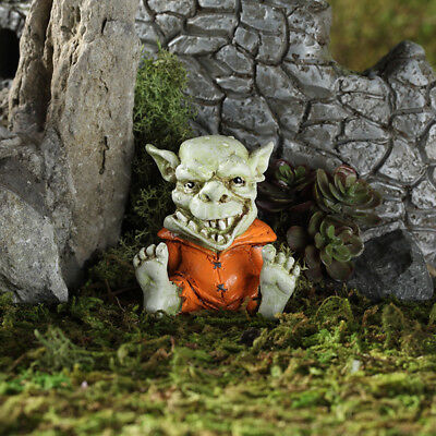 "2"" My Fairy Gardens Mini Figure - Drool the Troll - Miniature Figurine Decor"