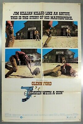 Heaven With A Gun - Glenn Ford - Original American One Sheet Movie Poster