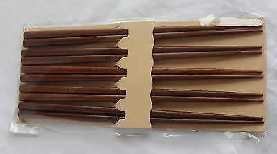 Chopsticks | 5 pairs | Dark Brown | Wooden