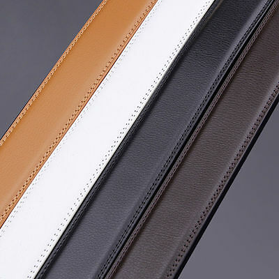 Men Genuine Leather Belt For Automatic Buckle Waist Strap Belt Black Brown 3.5CM
