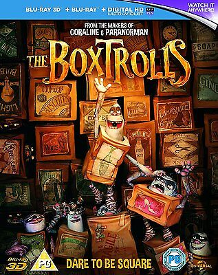 The BoxTrolls 3D + 2D Blu-Ray BRAND NEW Free Ship USA Compatible