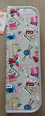 KNITTING PIN NEEDLE CASES 2 Designs Hard or Soft 'Groves Notions' Pattern BNWT