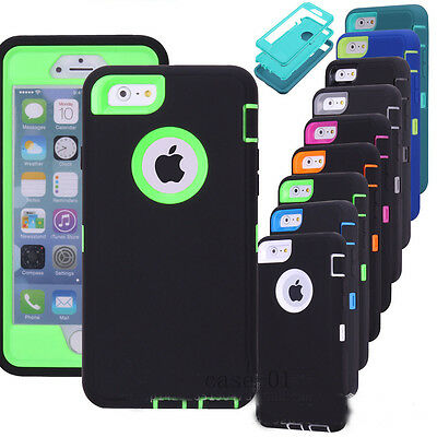 Shockproof Hybrid Hard Tough Armor Case Cover For Apple iPhone 5s 6 6s Plus