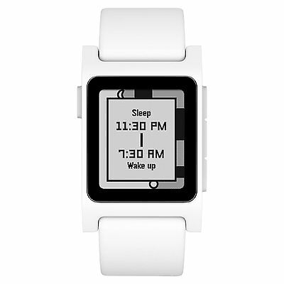 Pebble 2 Smart Watch for iPhone & Android, White, Heart Rate Monitor
