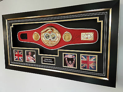 *** Rare Anthony Joshua Signed Mini BELT and Display Case ***