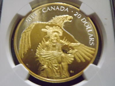 2014 Canada $20 Legend of Nanaboozhoo The Thunderbird PF70 UC Pop of 4!