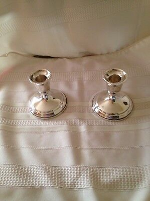 "TOWLE VINTAGE PAIR OF WEIGHTED, REINFORCED STERLING SILVER  ""925"" Candleholders"