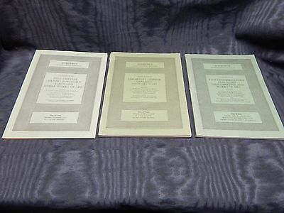 3 Sotheby's Auction Catalogs Fine Chinese Works of Art Ceramics Jade 1977-78