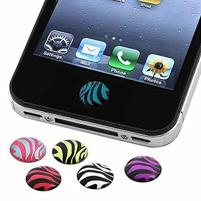 6 Pieces Animal Home Button Sticker Compatible With Apple ipod iphone