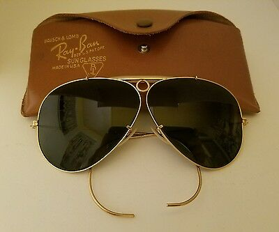 Vintage Ray-Ban Aviator Sunglasses 1/10 12K Gold Filled