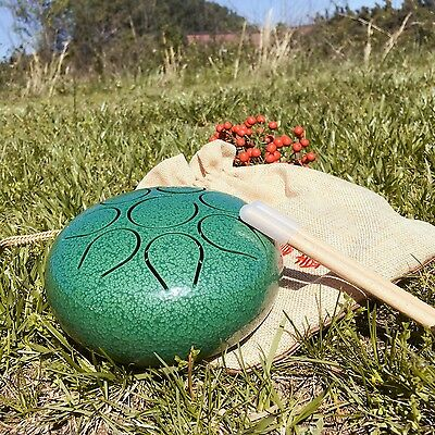 """WuYou 5"""" 13cm  Steel Tongue Drum/Tank Drum, Portable- to Play anytime any where!"""