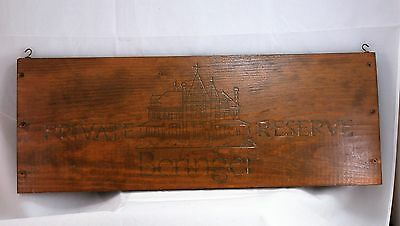 Beringer Private Reserve Napa Wine Wood Crate Box Wall Plaque Panel