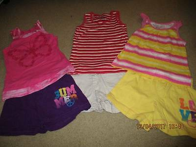GIRLS size 6 6X summer lot SHORTS tops  FADED GLORY  cute