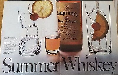 1967 - Seagrams 7 Summer Whiskey - Vintage Print Ad