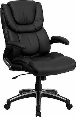 High-Back Black Leather Executive Swivel Office Chair NEW