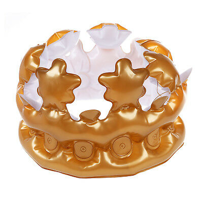1PCS Inflatable Gold Crown King Queen The Day Costume Party Halloween S7U9