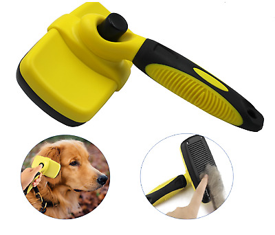 Novelty Wares Pet Grooming Brush, Self-Cleaning Slicker Brushes