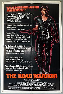 Mad Max 2 The Road Warrior -Mel Gibson- Original American One Sheet Movie Poster