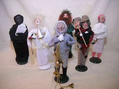 """Lot of 6 Byer's Choice Dickens """"A Christmas Carol"""" Figures"""