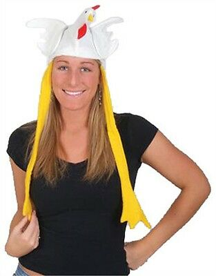 Stuffed Plush Chicken Rooster Hat Costume Party Cap