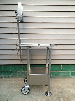 Deli Buddy Slicer Cart Stand Stainless with back castors