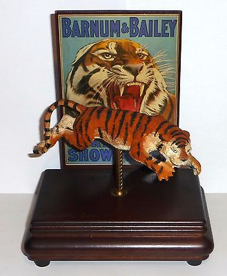 Vintage Willetts Ringling Bros. Barnum & Bailey Circus Music Box 8784 Tiger 1988