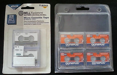 6 Olympus XB60 / Bell Micro Cassette Recording Tapes Phone 60min New
