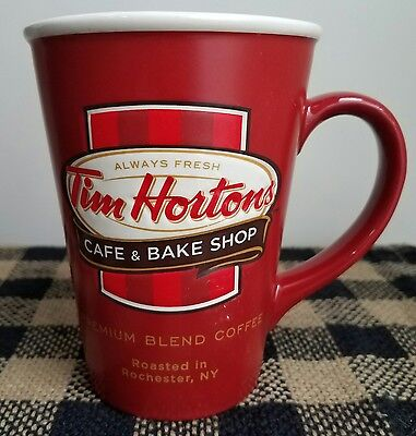 Tim Hortons 2011 Cafe Bake Shop Red Coffee Mug Rochester NY New York