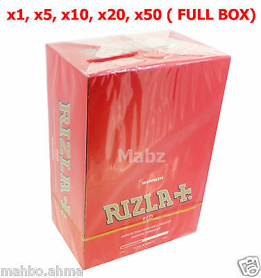 Rizla Tobacco Cigarette Medium Thin Rolling Papers Red - 1,5,10,20,50 Booklets