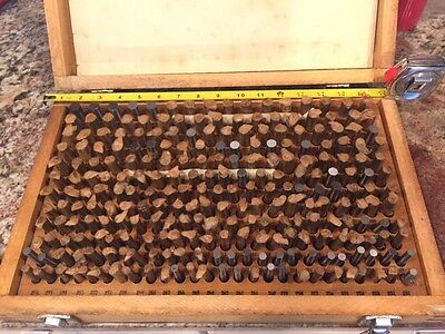 "Huge Pin Gage set in wood box 250pcs, Gauge .251"" to .500"""
