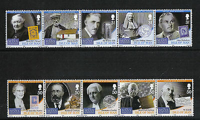 Isle of Man 2008 Famous People--Attractive Topical (1275-76) MNH