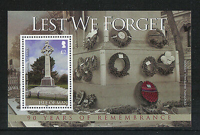 Isle of Man 2008 End of World War I 90th ss--Attractive Topical (1283) MNH