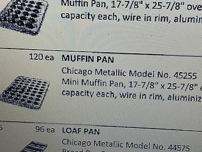 "Chicago Metallic Mini Muffin Pans 48 on 17-7/8"" x 25-7/8"" 48 on Pan NEW LOT"