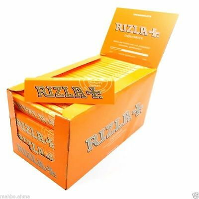 Rizla Liquorice Standard Tobacco Rolling Papers - FULL BOX of 100 BOOKLETS