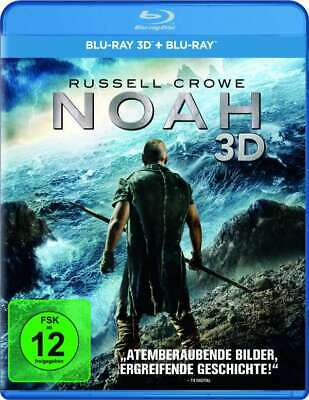 Noah (Russell Crowe) 3D + 2D Blu-Ray Import BRAND NEW Free Ship USA Compatible