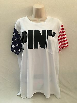 VICTORIA'S SECRET PINK Campus T-Shirt 2016 4th Of JULY PATRIOT