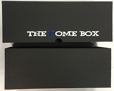 THE DOME BOX - NEW & IMPROVED Sports Card Storage Box AVAILABLE IN BLACK & BLUE