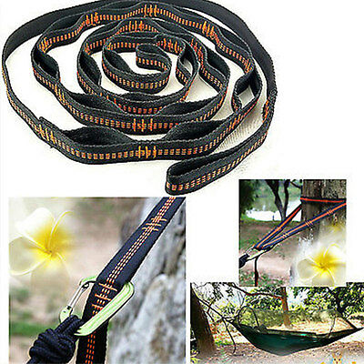 Hammock Strap Camping Adjustable Tree Hanging Heavy Duty Strong Extension Belt