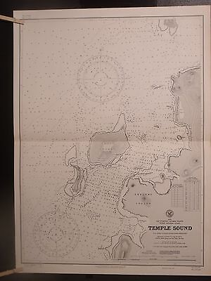 2 WWII Era charts 3728 Bay of Bengal Andaman Islland Temple Sound 2nd & 3rd ED
