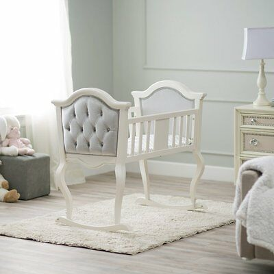 Orbelle Lola Upholstered Cradle, White