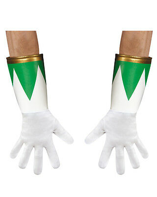 Adults Green Mighty Morphin Power Ranger Gloves Costume Accessory