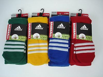 New Adidas Men Women Youth 8 Pair Baseball Socks Shoe Size 5 - 9.5  Size Medium