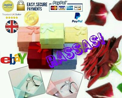 Wholesale Quality 100x 20p EACH Luxury Bow Jewellery Gift Ring Box UK SELLER .!