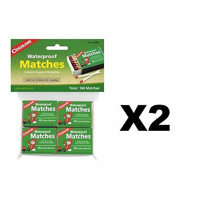 Coghlan's Waterproof Matches 160-Count Wooden Fire Starters w/Strikers (2-Pack)