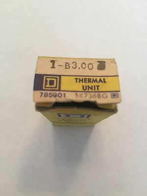 New In Box Square D Heater Element B3.00