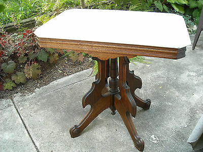 Victorian Vintage Antique Eastlake Style marble top parlor table Pick UP PA