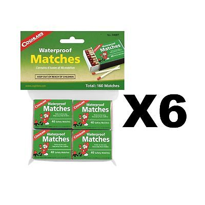 Coghlan's Waterproof Matches Wooden Fire Starters (6-Pack of 4 - 40 Count Boxes)