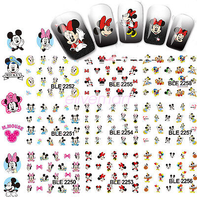 Mickey Mouse DIY Nail Art Sticker Water Transfer Decals Decoration