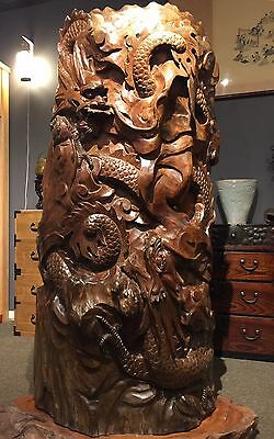 Amazing Chinese Antique Hard Wood Carving.